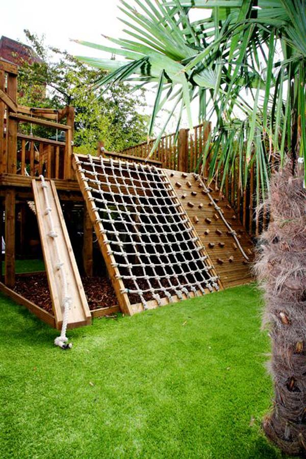 10+ Fun backyard transformation ideas on a budget for Kids Playground (11)