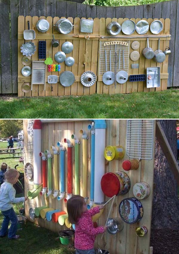 10+ Fun backyard transformation ideas on a budget for Kids Playground (12)