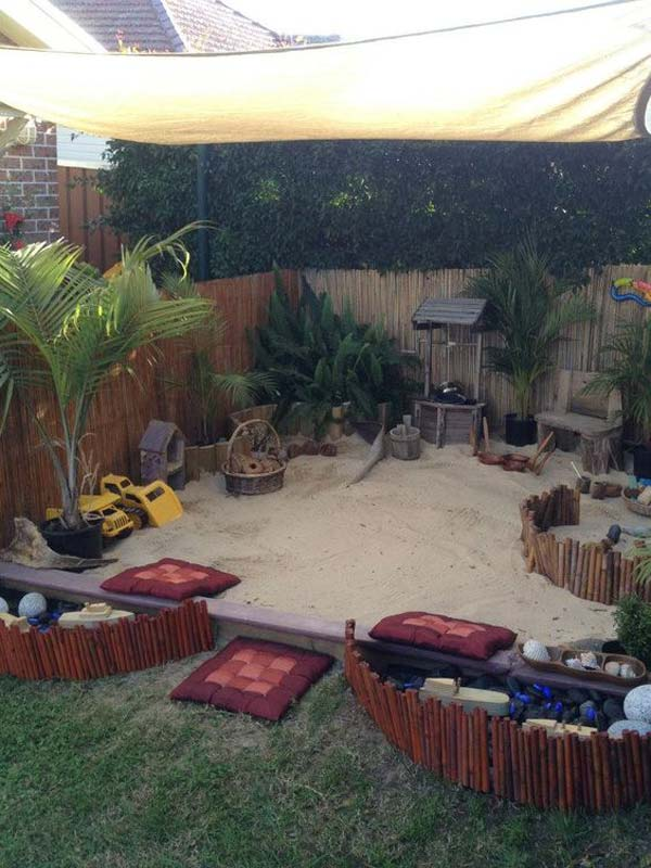 10+  Fun backyard transformation ideas on a budget for Kids Playground 5