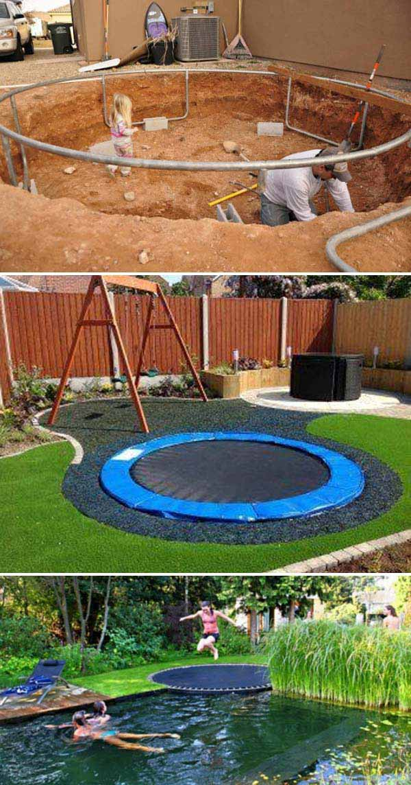 10+ Fun backyard transformation ideas on a budget for Kids Playground (6)