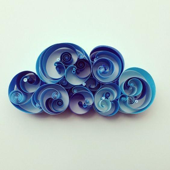 blue paper art