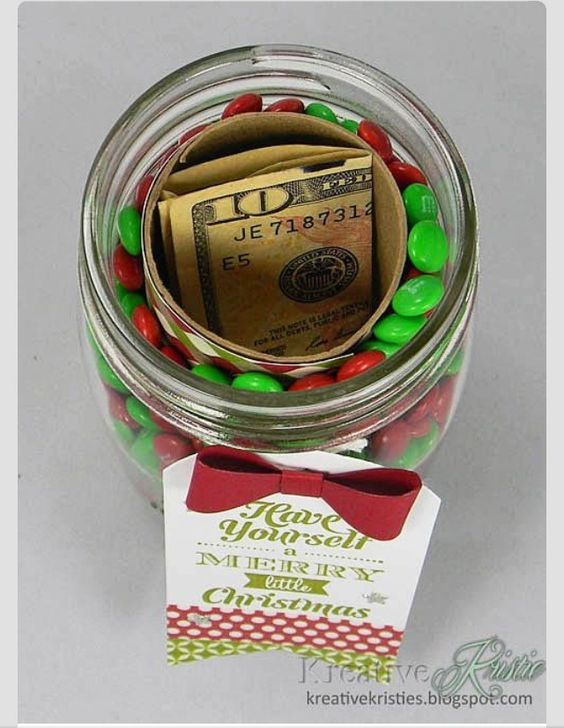 Christmas candy jar surprise