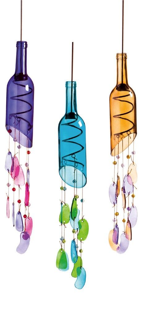 hanging glass bottle