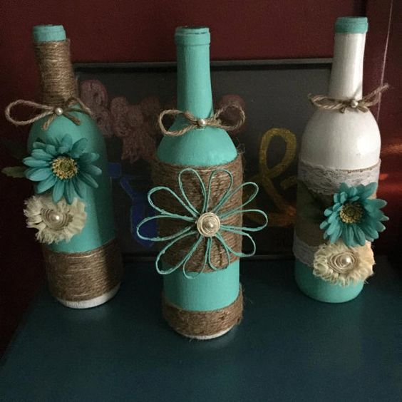 centerpiece glass bottle crafts