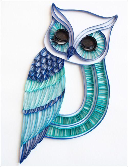 owl paper art