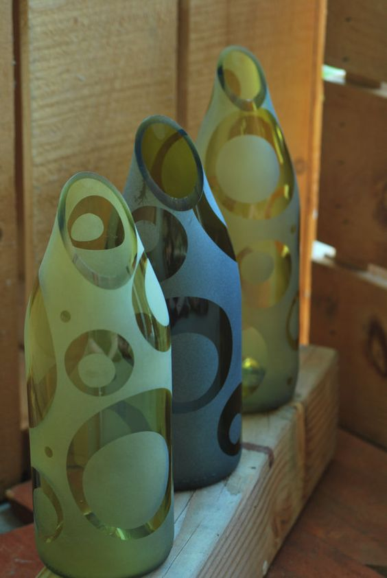 design glass bottle crafts