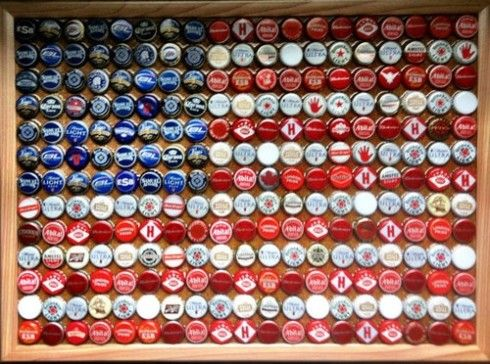 Bring out your inner patriot with your own bottle cap flag