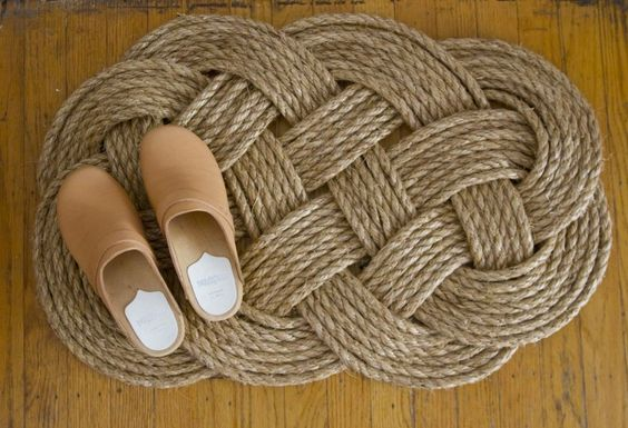 diy crafts nautical rope rug