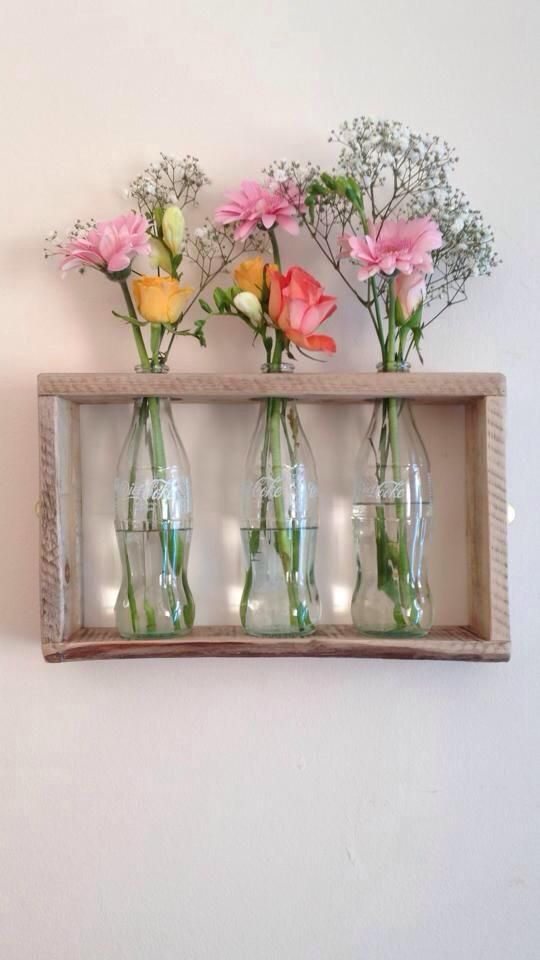 vase holders from glass bottle