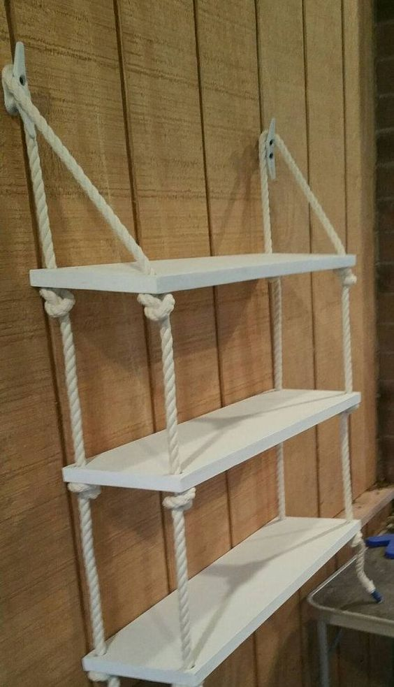white shelves diy