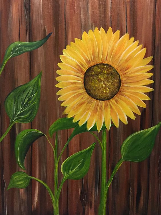 sunflower canvas painting