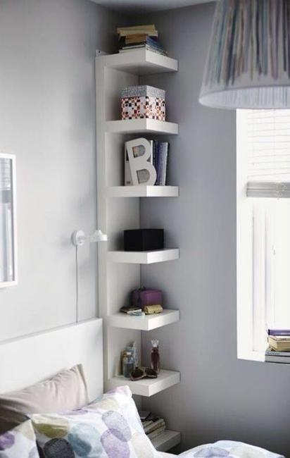 vertical corner shelf