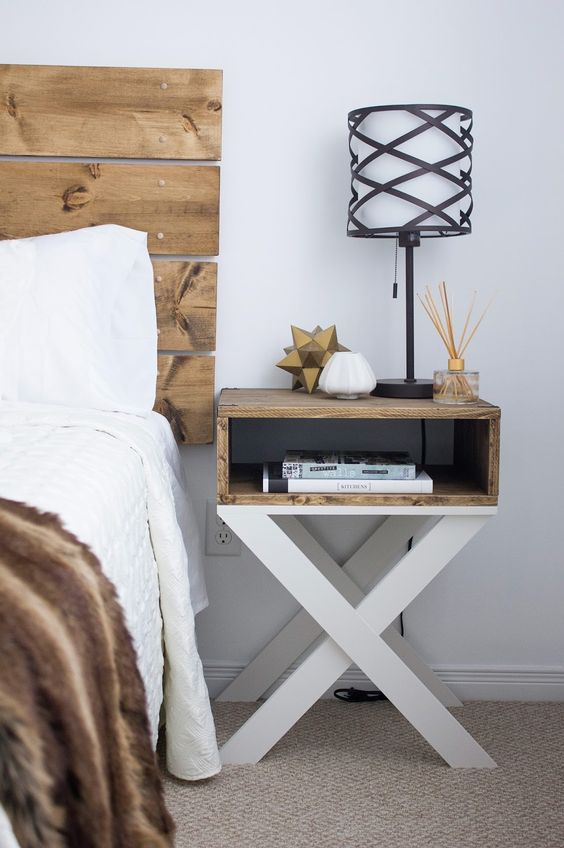 Modern take for a wooden nightstand
