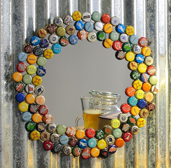 Bottle cap mirrors brings out the beauty in you
