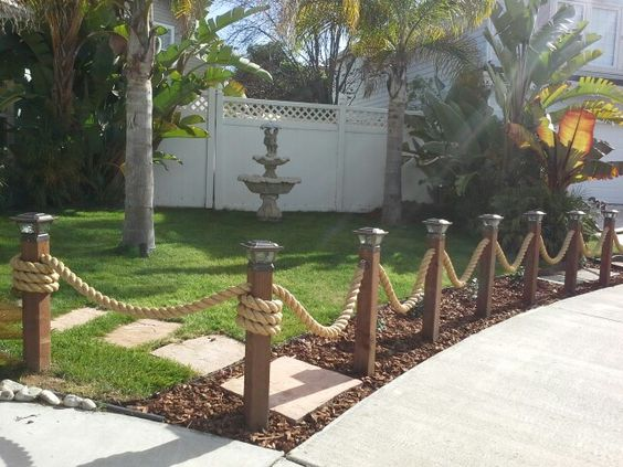 fences with nautical rope
