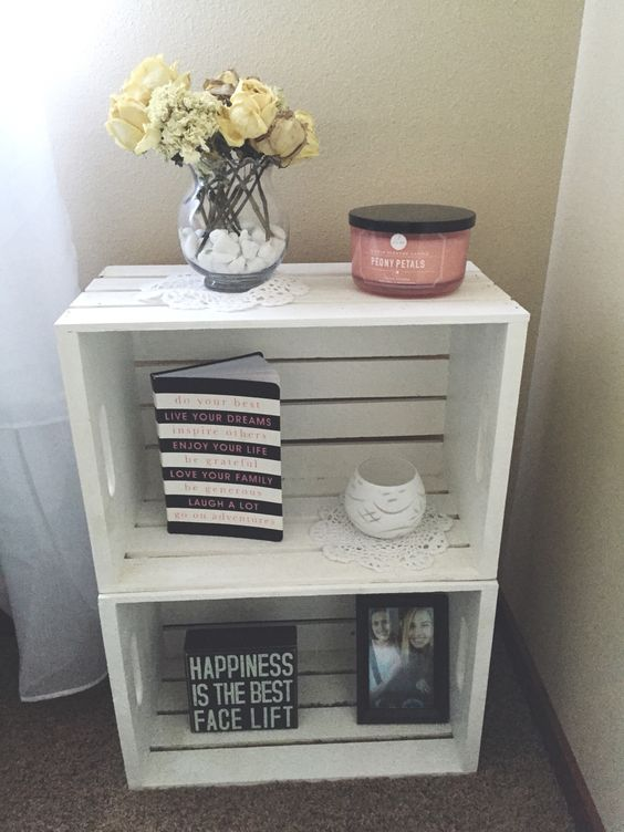 Inexpensive wooden box nightstands