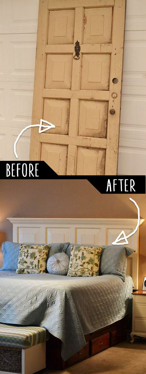 738180a478e4a7e7609b462dbfc0303a - 16 DIY Headboards That Can Revamp Your Bed