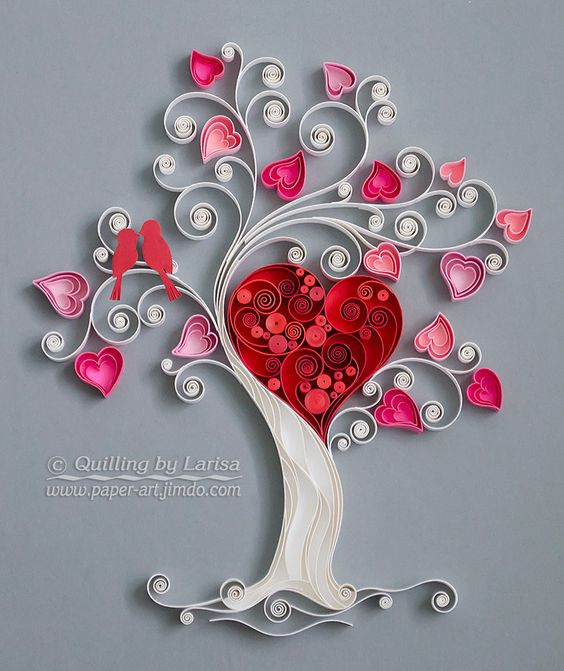 love tree with paper