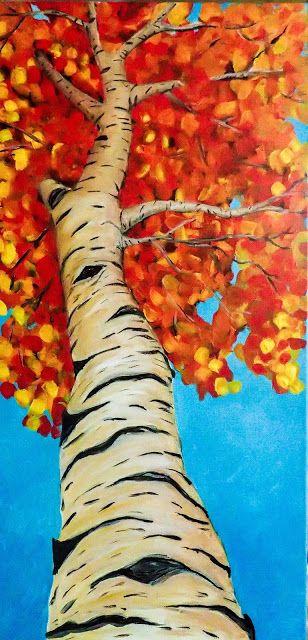 autumn season in a canvas