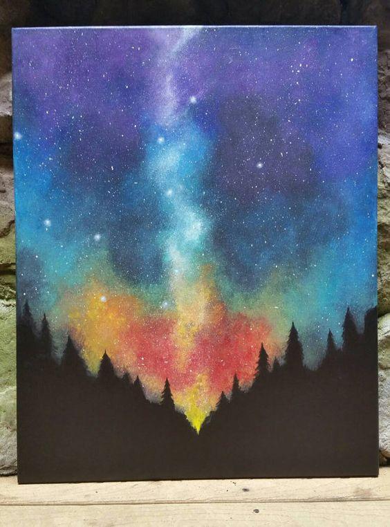 night sky diy paintings