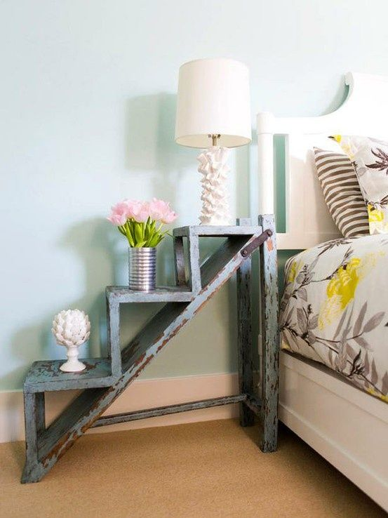 Super creative shabby chic nightstand