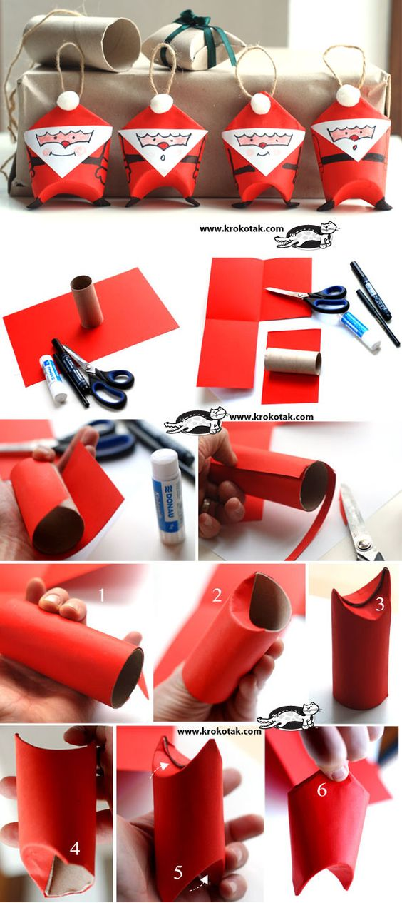 Christmas toilet paper craft