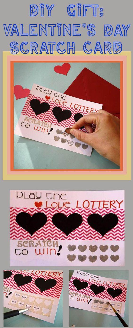 Scratch Card - DIY Valentine's Day Ideas