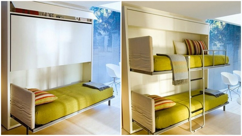 green fold able bed