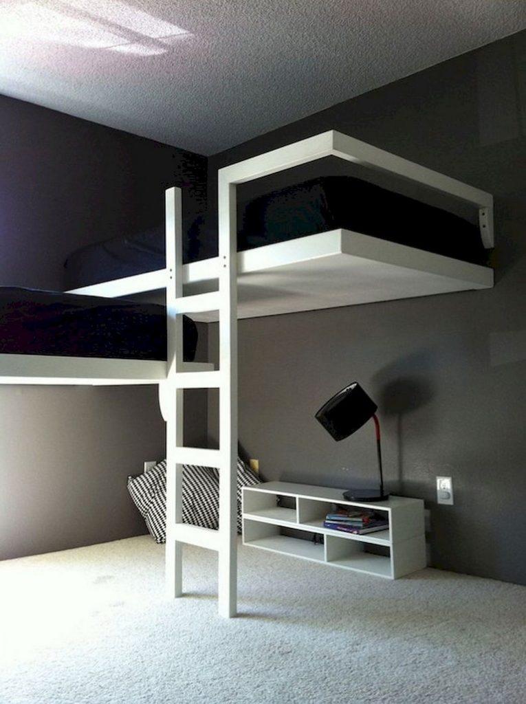 minimalist double deck bedroom