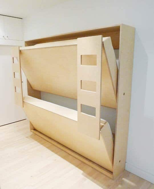 plywood bed for small spaces