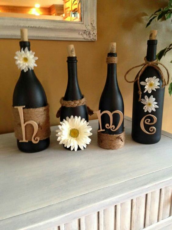 home glass bottle crafts