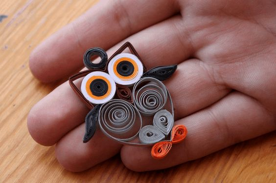 small owl made with paper