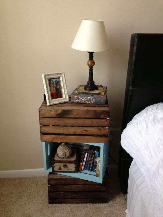 Twist on a crate nightstand