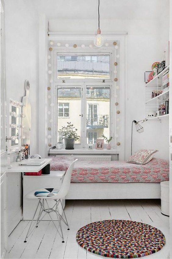 stark white bedroom