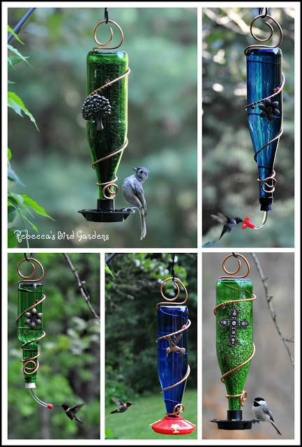 bird feeder glass bottle crafts