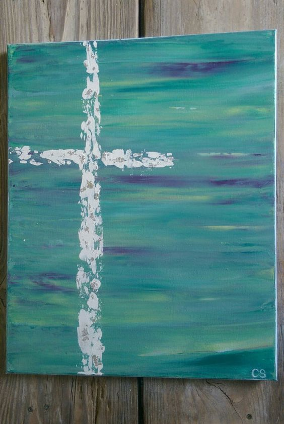 blue colors canvas painting ideas