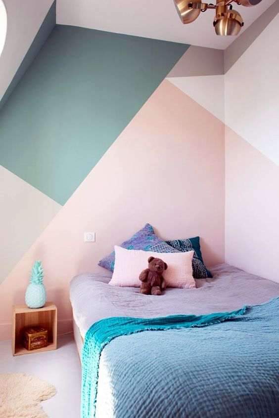 tone color lines diy wall painting