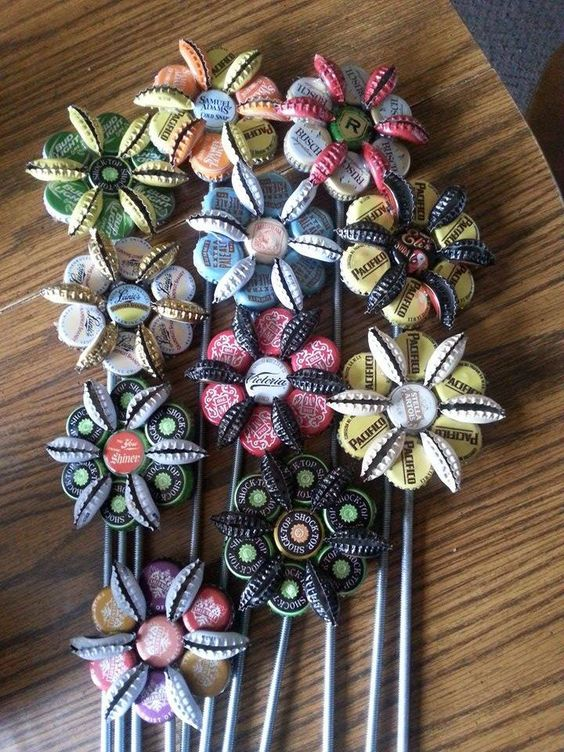Bottle cap flowers that can adorn and complement your garden
