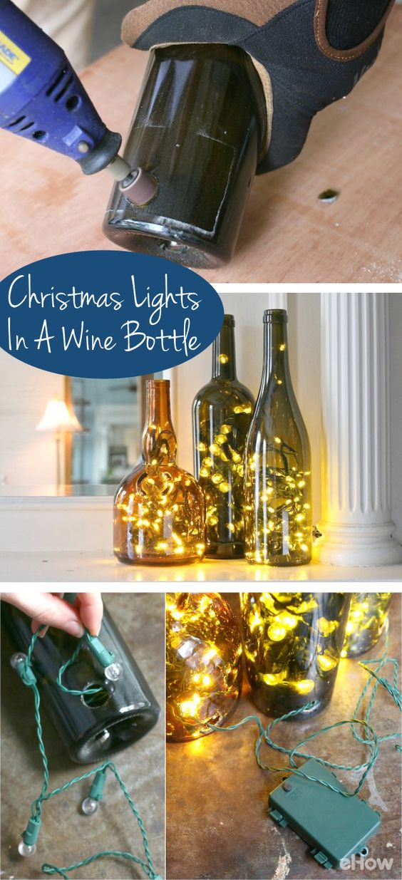 glass bottle crafts lamps