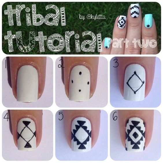 nail16 - 111 Nail Art Tutorials - Learn How To Do The Simple Ones To Intricate Details
