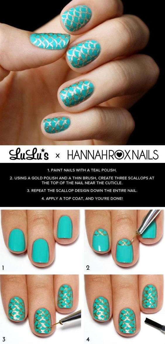nail17 - 111 Nail Art Tutorials - Learn How To Do The Simple Ones To Intricate Details