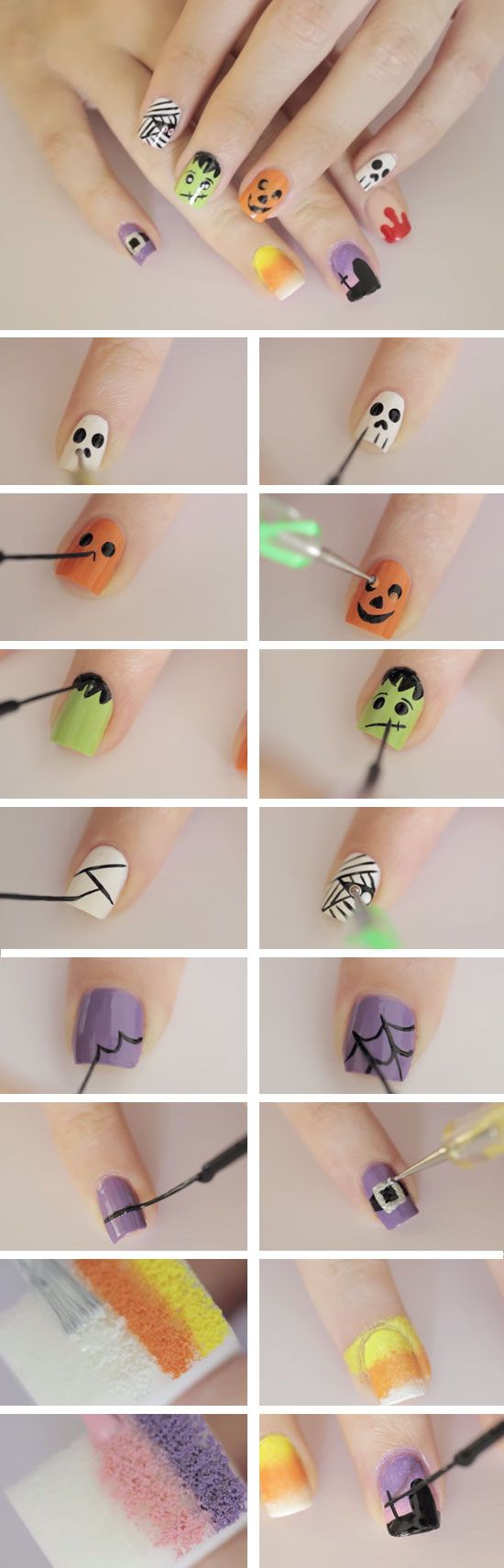 nail24 - 111 Nail Art Tutorials - Learn How To Do The Simple Ones To Intricate Details