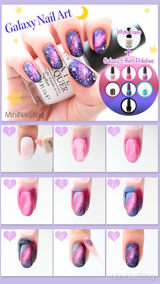 nail35 - 111 Nail Art Tutorials - Learn How To Do The Simple Ones To Intricate Details