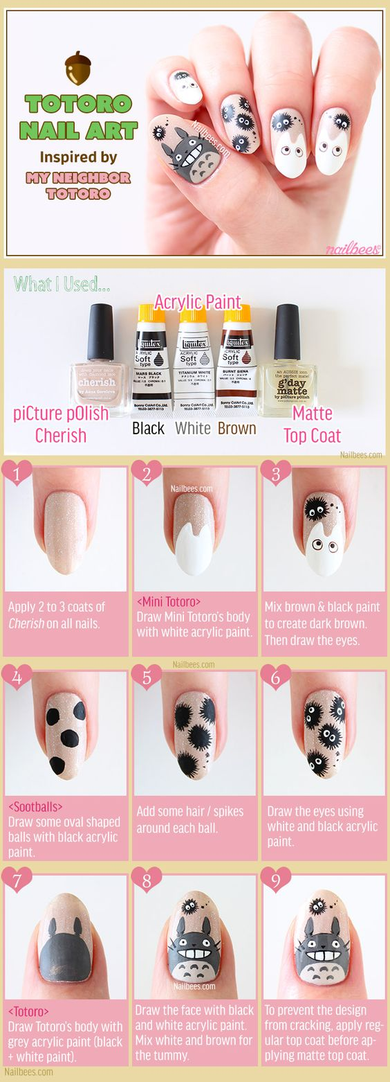 nail49 - 111 Nail Art Tutorials - Learn How To Do The Simple Ones To Intricate Details