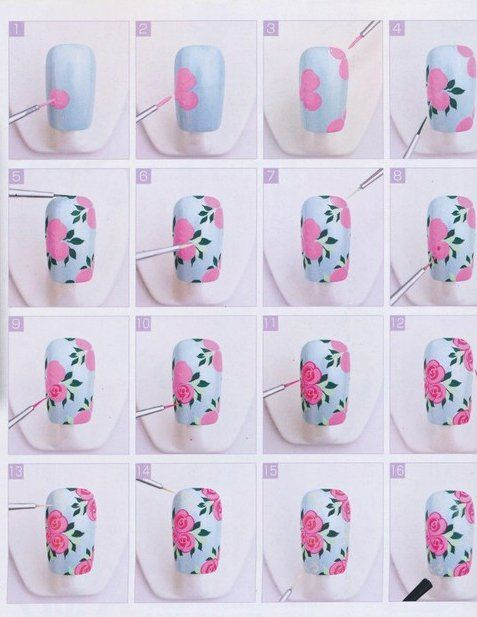 nail61 - 111 Nail Art Tutorials - Learn How To Do The Simple Ones To Intricate Details