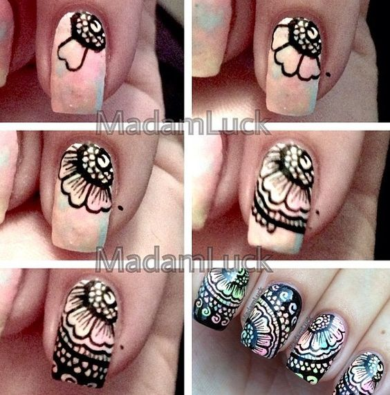 nail68 - 111 Nail Art Tutorials - Learn How To Do The Simple Ones To Intricate Details