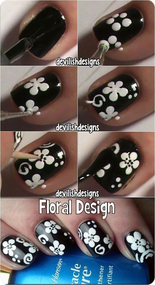 nail78 - 111 Nail Art Tutorials - Learn How To Do The Simple Ones To Intricate Details