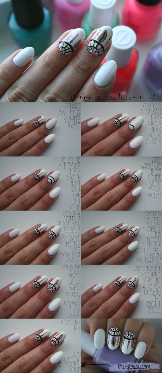 nail90 - 111 Nail Art Tutorials - Learn How To Do The Simple Ones To Intricate Details