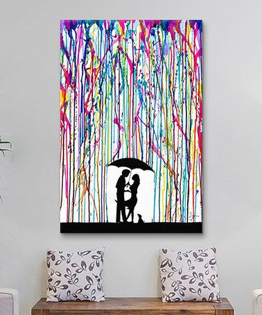 melting crayons on canvas
