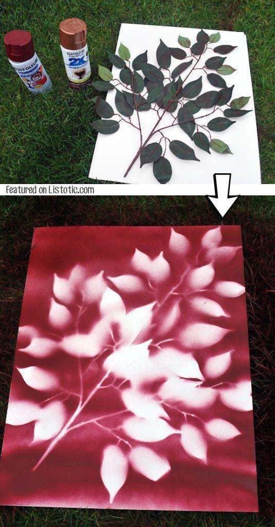 spray on nature diy paintings